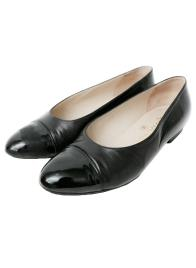 CHANEL FLAT SHOES BLK