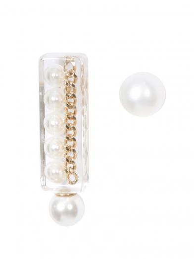 SQUARE PEARL CHAIN PIERCE