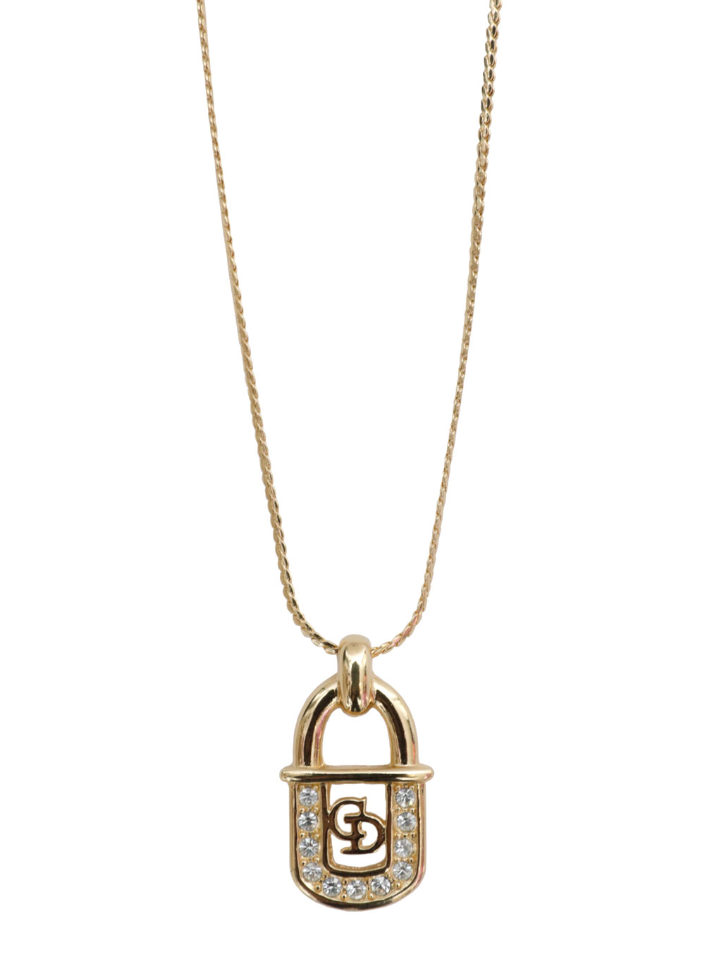 DIOR CD LOGO KEY NECKLACE