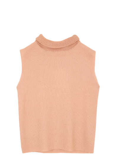 ROLL UP NECK KNIT TANK