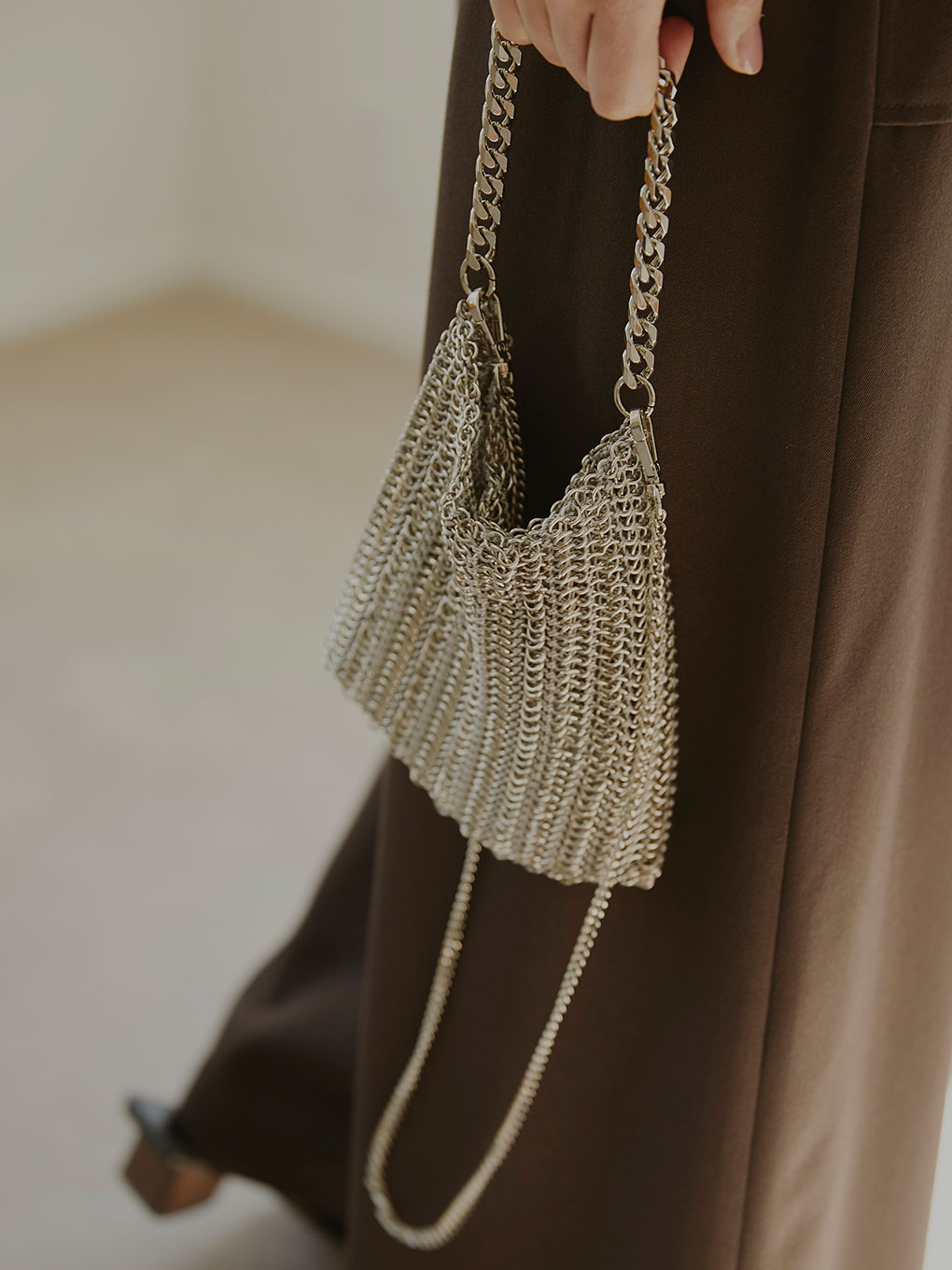 HEAVY CHAIN MESH BAG