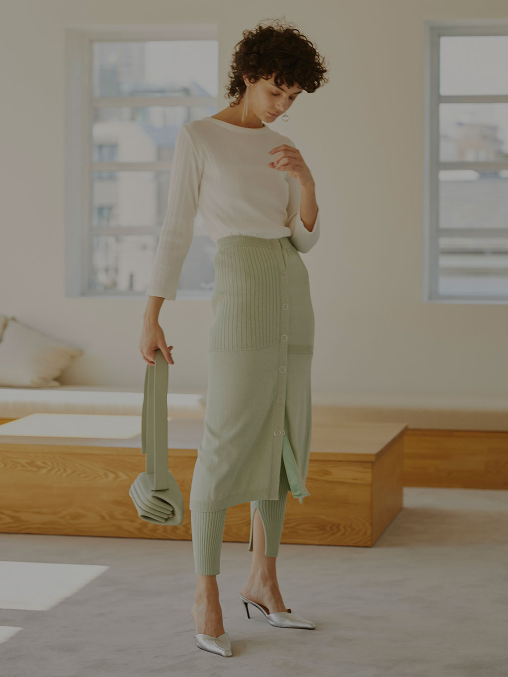 LEGGINGS SET KNIT SKIRT