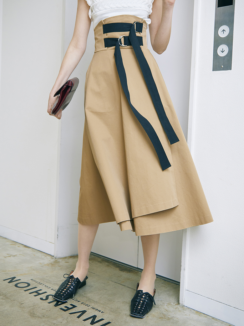 DOUBLE TAPE BELT SKIRT