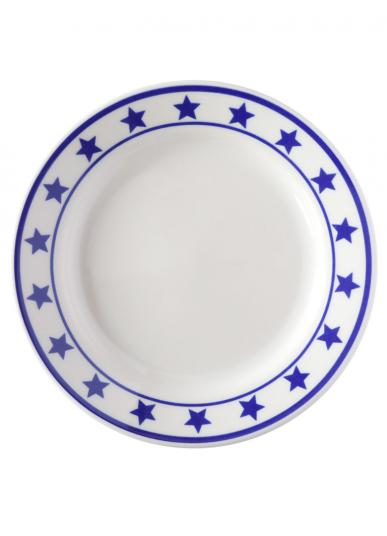 FISHS EDDY MANHATTAN BLUE PLATE SPECIAL SIDE PLATE