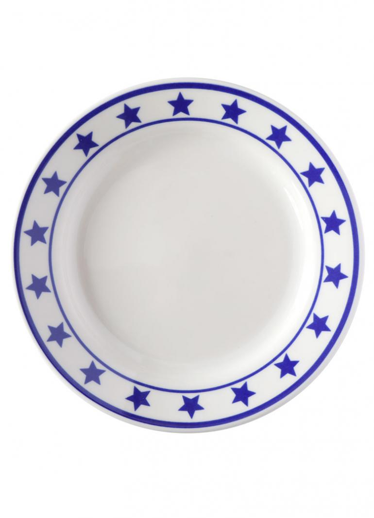 FISHS EDDY MANHATTAN BLUE PLATE SPECIAL SIDE PLATE