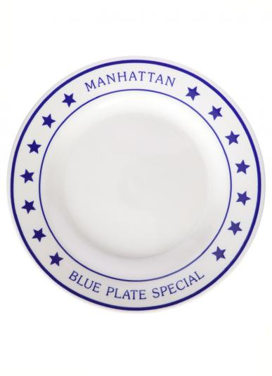 FISHS EDDY MANHATTAN BLUE PLATE SPECIAL DINNER P
