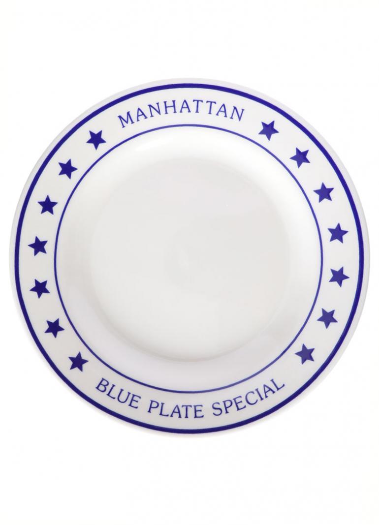 FISHS EDDY MANHATTAN BLUE PLATE SPECIAL DINNER P