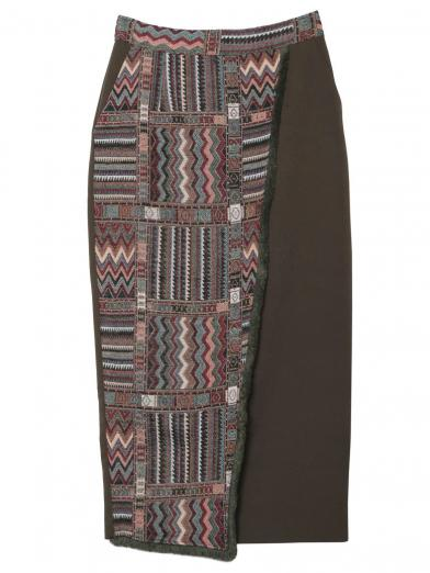 GOBELINS TAPESTRY TIGHT SKIRT