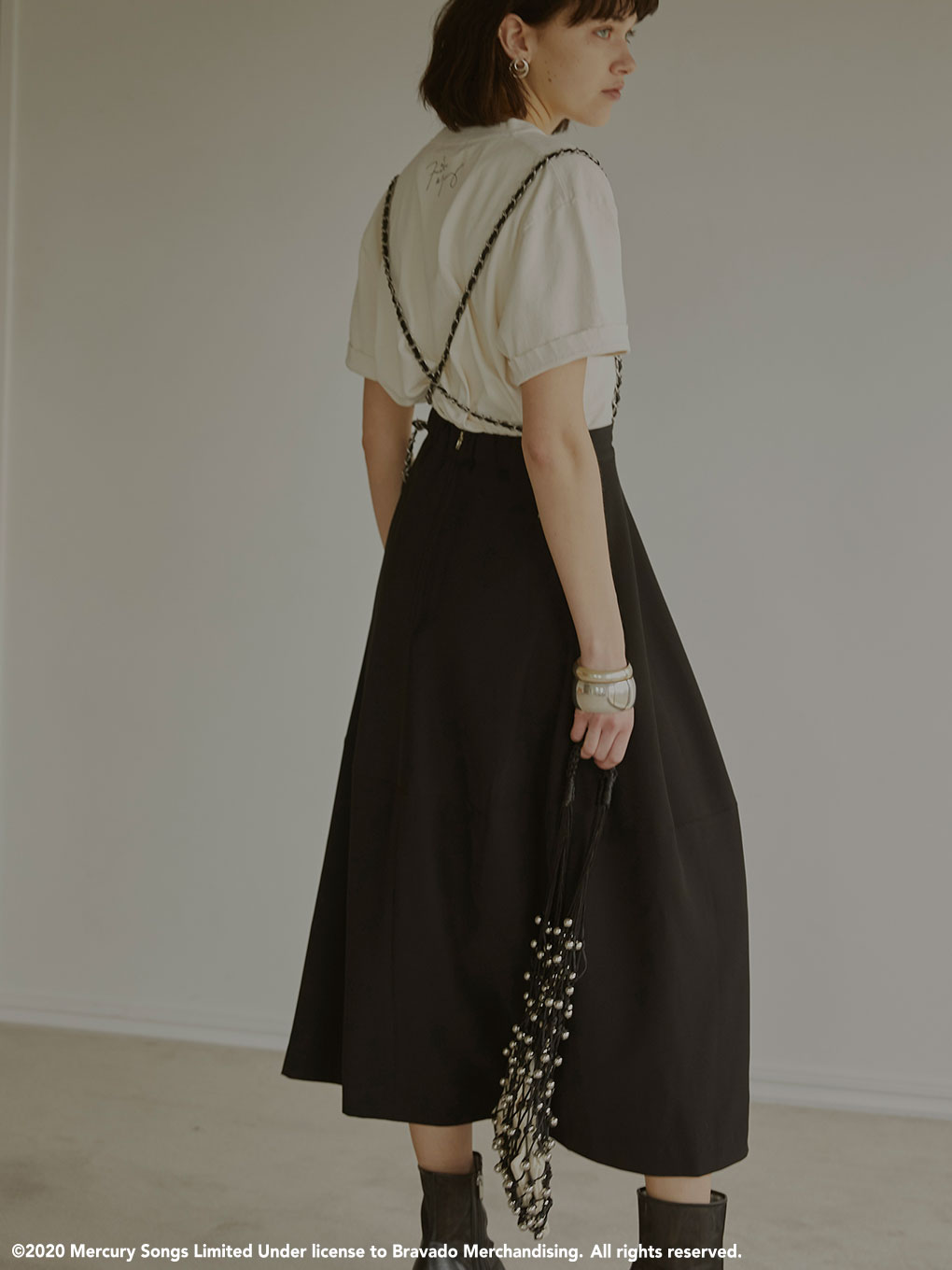 CHAIN SUSPENDER SKIRT