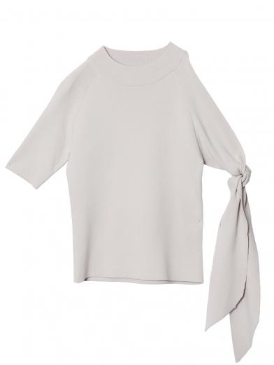 ASYMMETRY KNOT SLEEVE KNIT