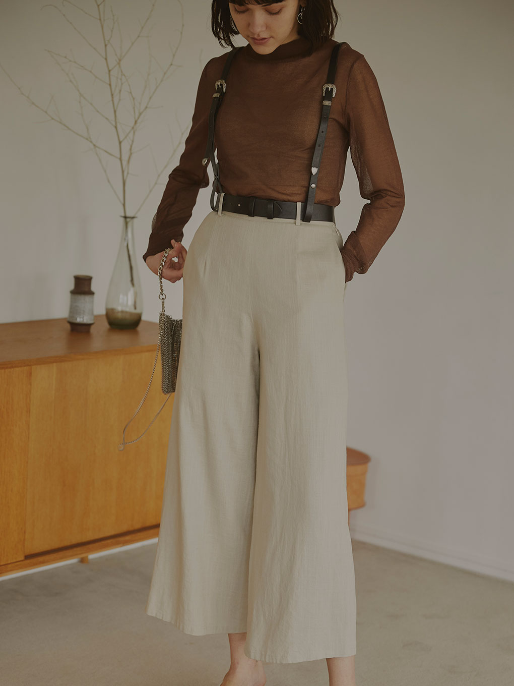 3WAY SUSPENDER BELT PANTS