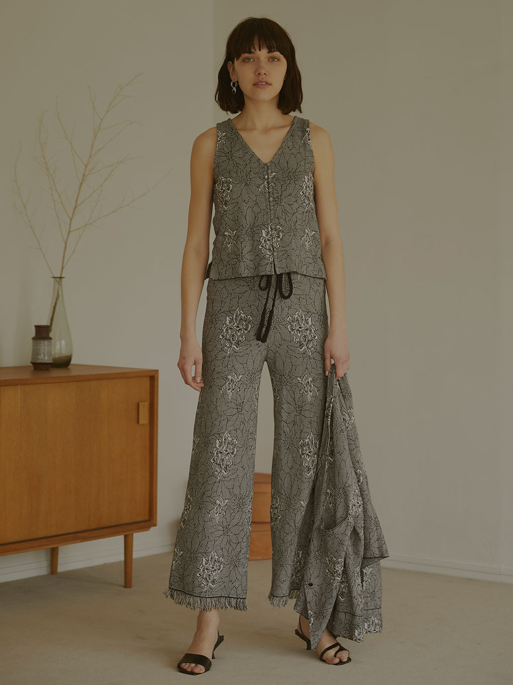 ZOE JACQUARD KNIT PANTS