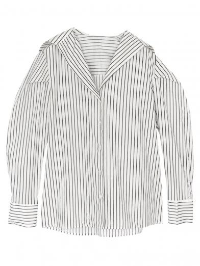 BIG COLLAR STRIPE SHIRT