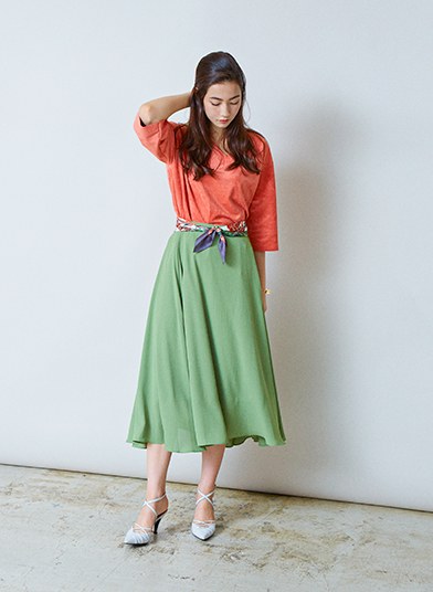COMELY GORED SKIRT