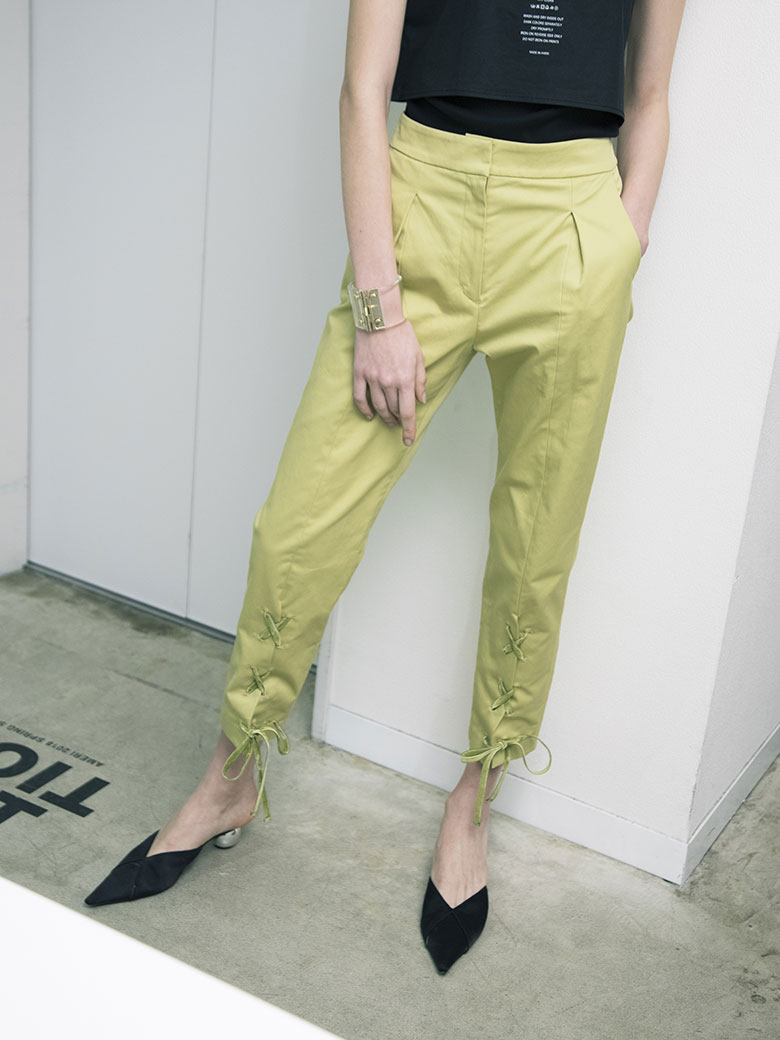 LACE UP TAPERED PANTS