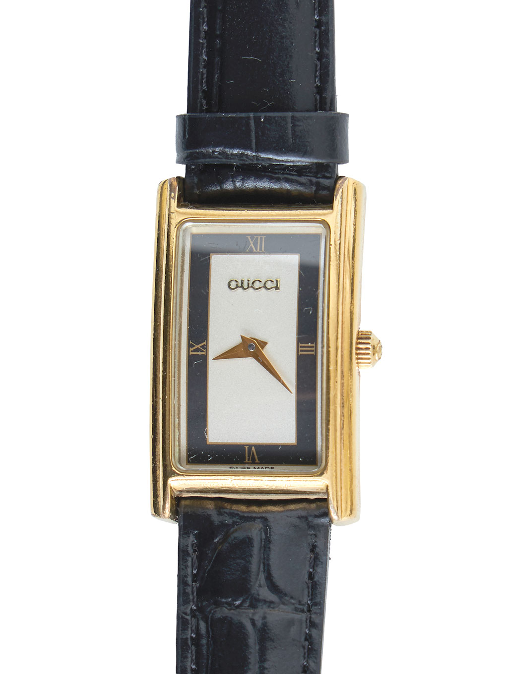 GUCCI LOGO刻印 LEATHER WATCH