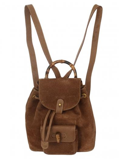 GUCCI BAMBOO SUEDE RUCKSACK