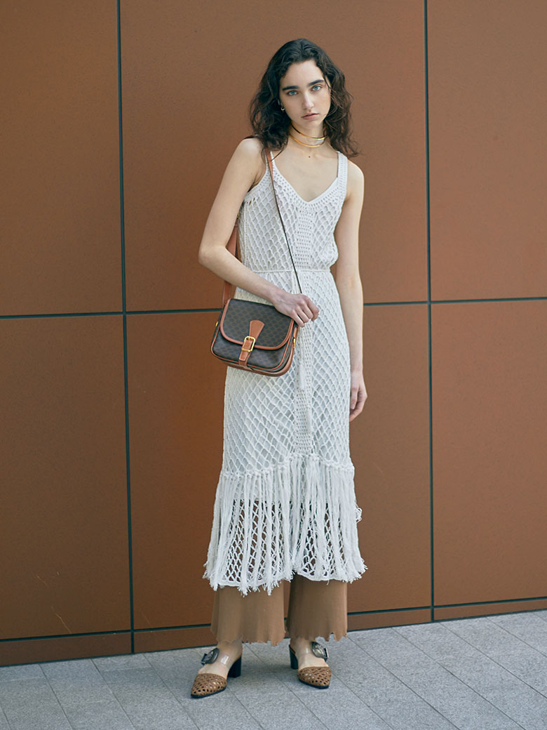 MEDI CROCHET FRINGE DRESS