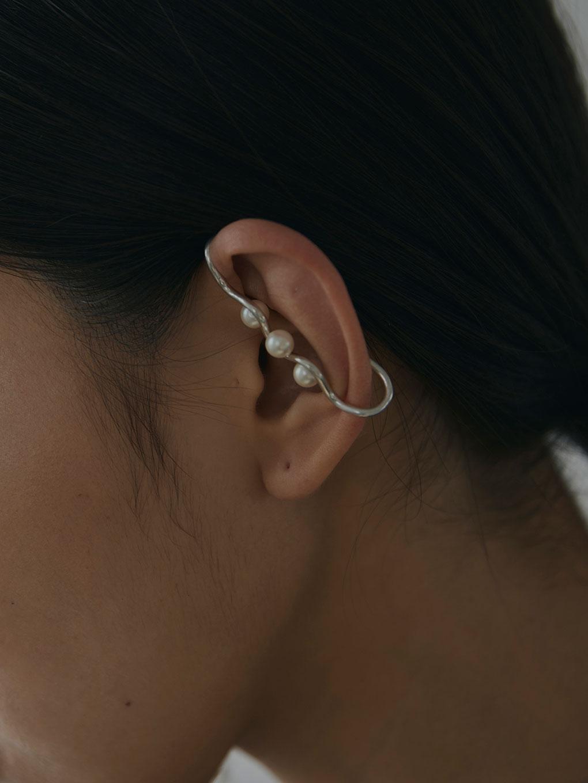 PEARL EARRING SET EAR CUFF