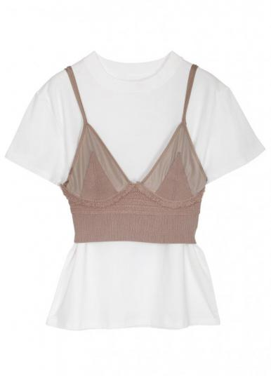 MEDI KNIT BUSTIER SET TEE