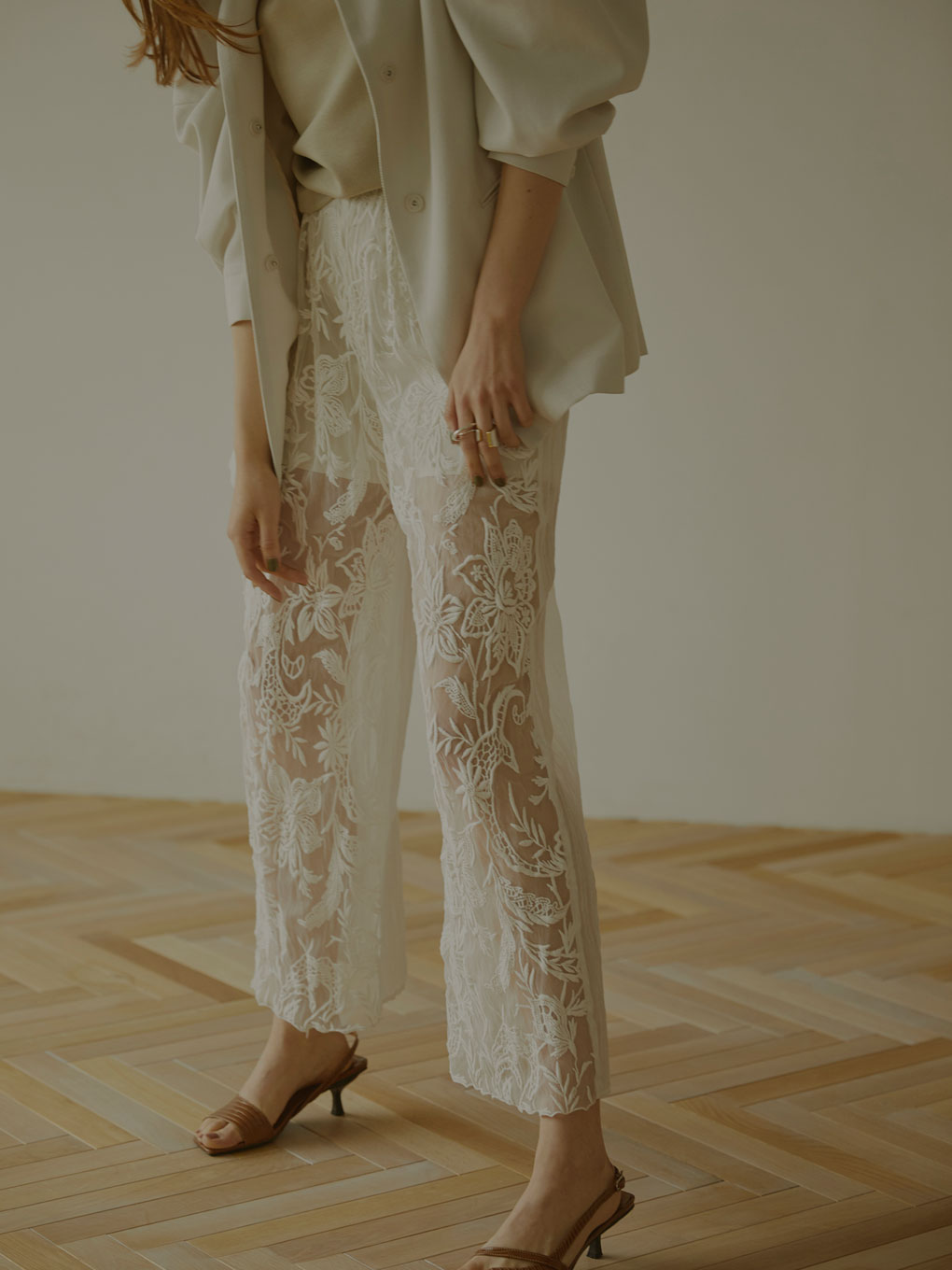 MEDI EMBROIDERY TULLE PANTS