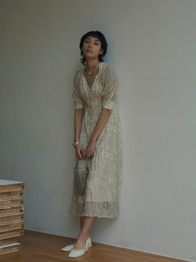 MEDI PALACE EMBROIDERY DRESS