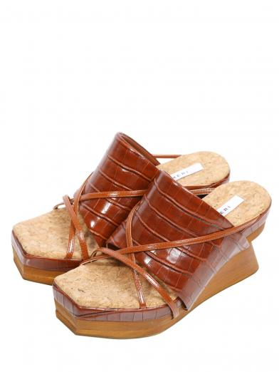 MEDI WOOD WEDGE SOLE SANDAL