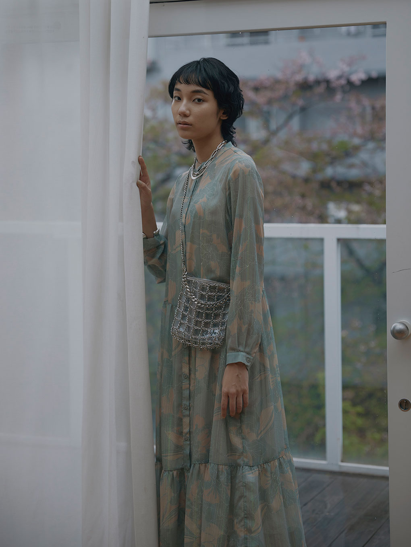 OLIVIA GATHER SHIRT DRESS