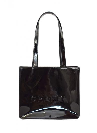 CHANEL ENAMEL TOTE BAG