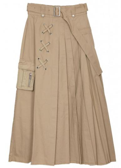 PLEATS MILITARY SKIRT
