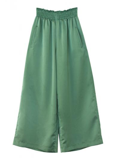 COLOR SATIN WIDE PANTS