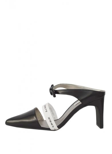 LOGO BELT POINTED PUMPS