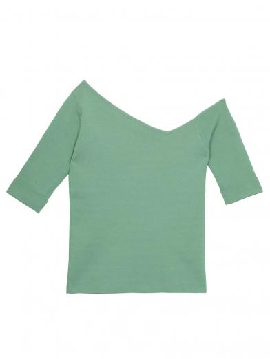 TRIANGLE ONE SHOULDER KNIT