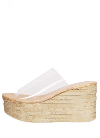 CLEAR WEDGE SOLE SANDAL