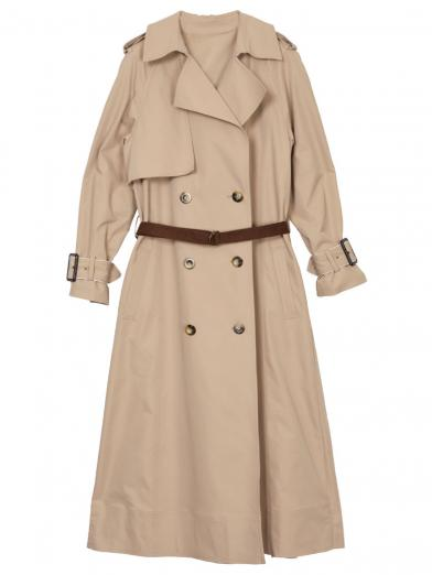 VARIOUS BACK PLEATS TRENCH