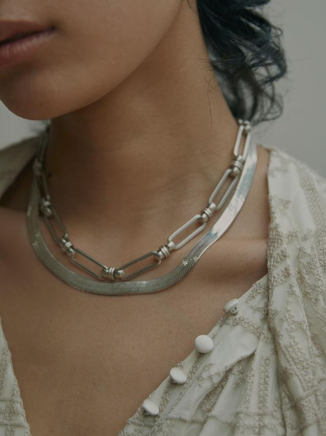 MEDI 3WAY CHAIN LAYERED NECKLACE