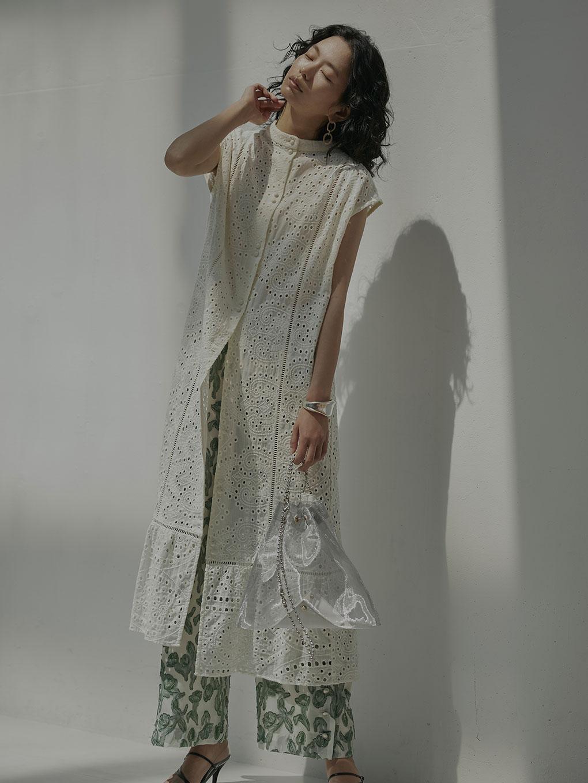 EYELET LACE SHIRT DRESS