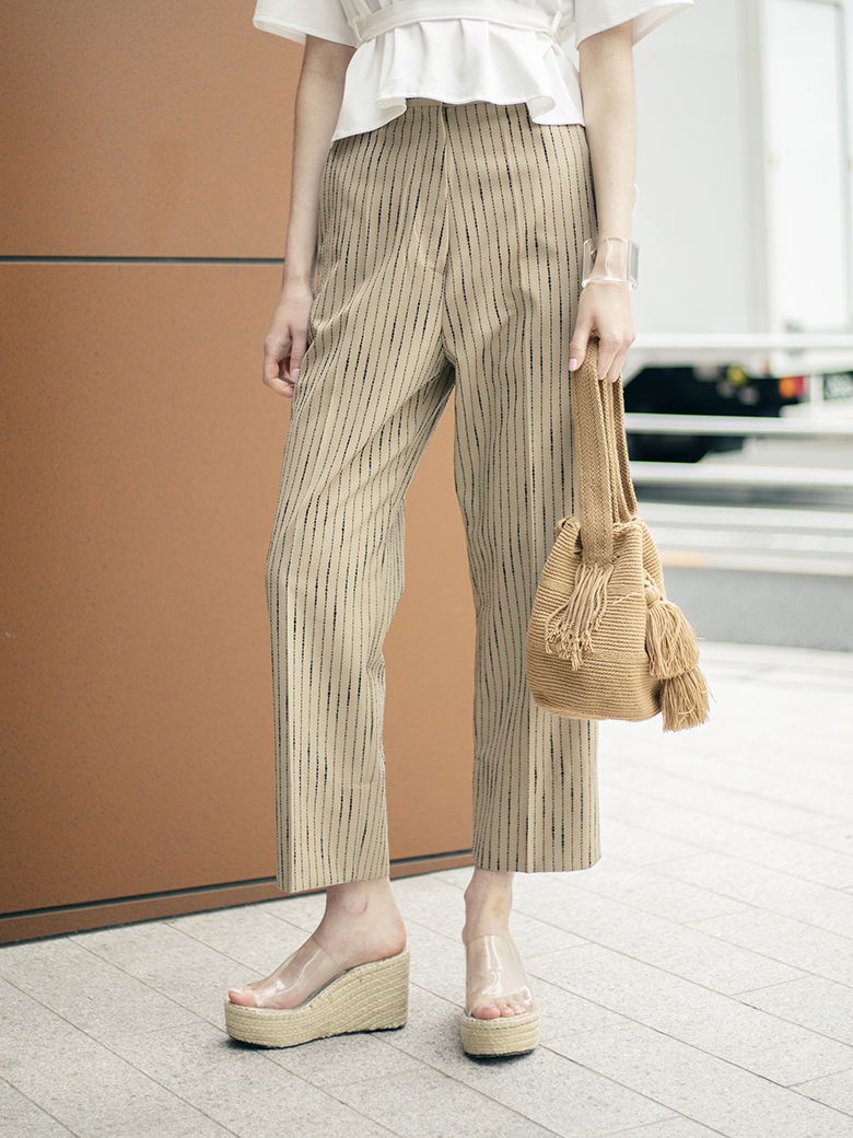 TREE RING STRIPE PANTS