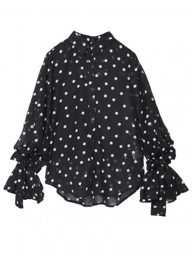 DOT BALLOON SLEEVE SHIRT