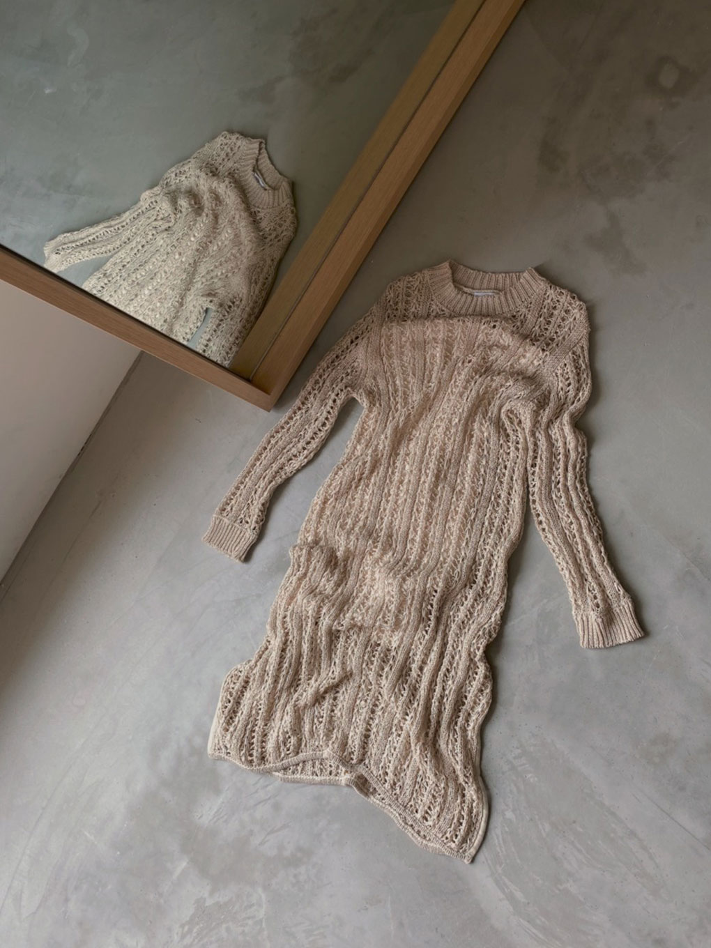 MEDI TAPE YARN KNIT DRESS