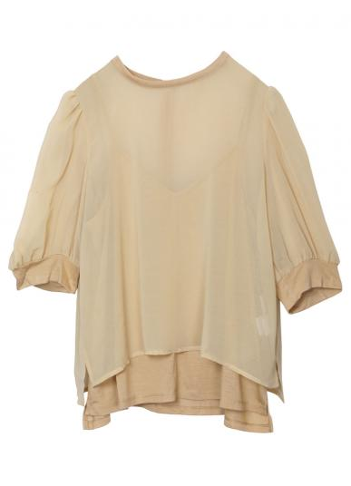 MEDI SHEER PUFF SLEEVE TOP
