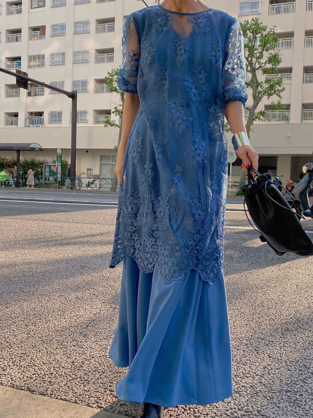 3WAY LAYERED LACE DRESS