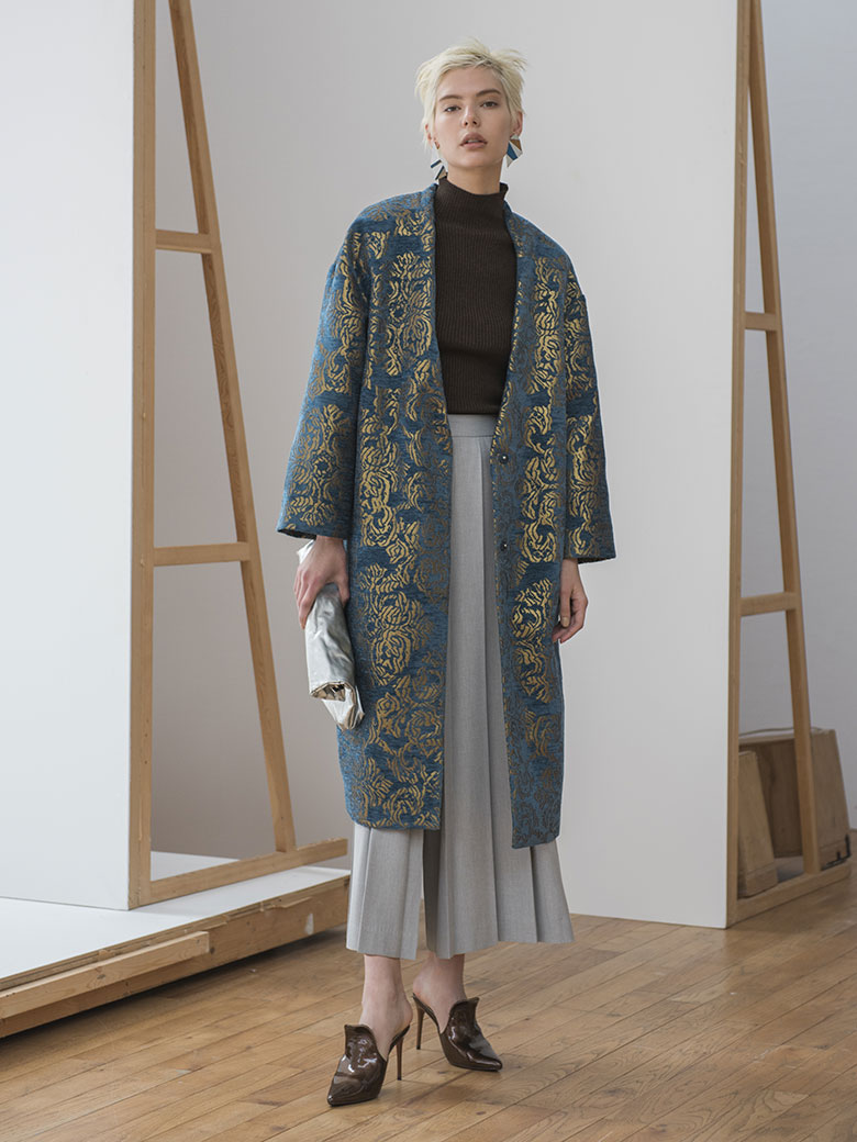 DAMASK JACQUARD COAT
