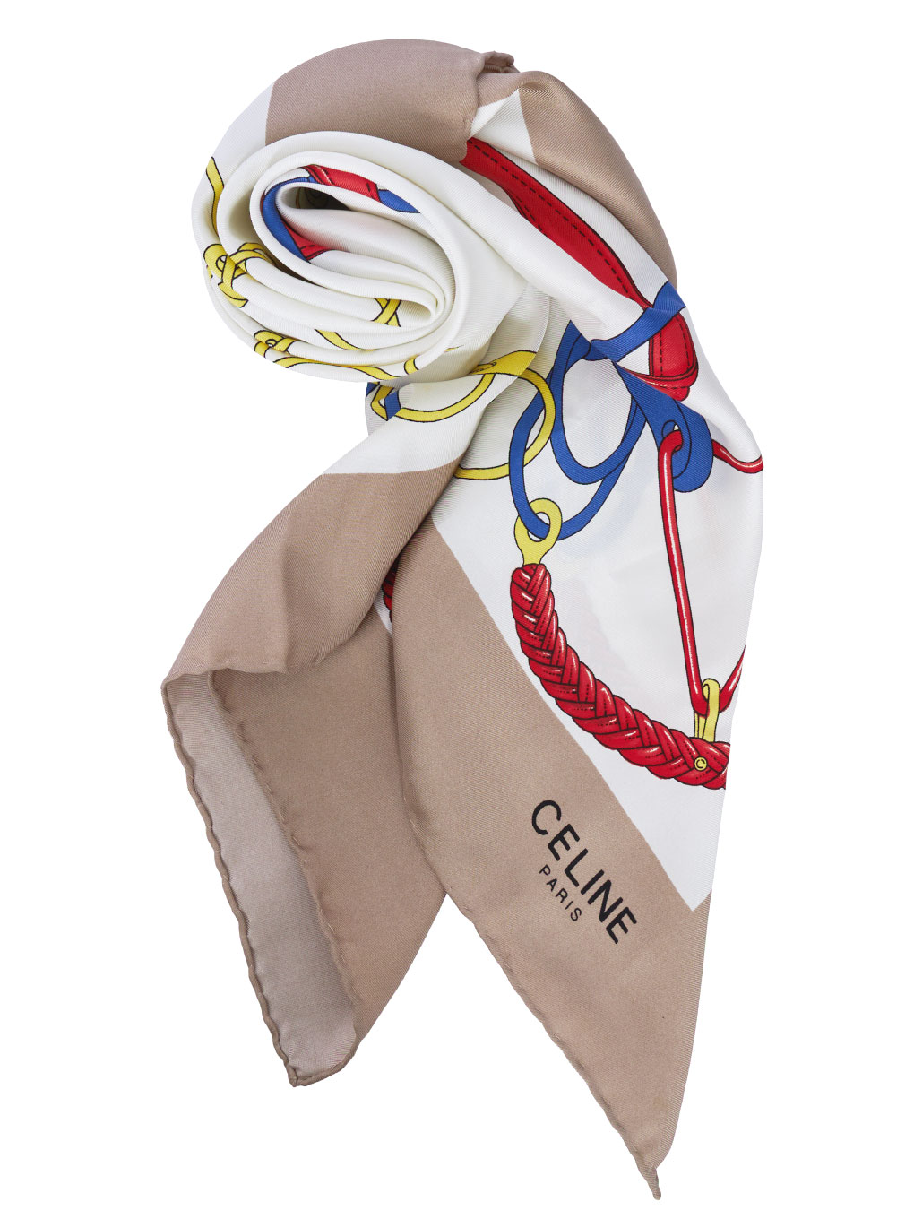 CELINE CHAIN柄  SCARF