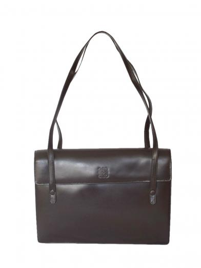 LOEWE 型押し LEATHER SHOULDER BAG