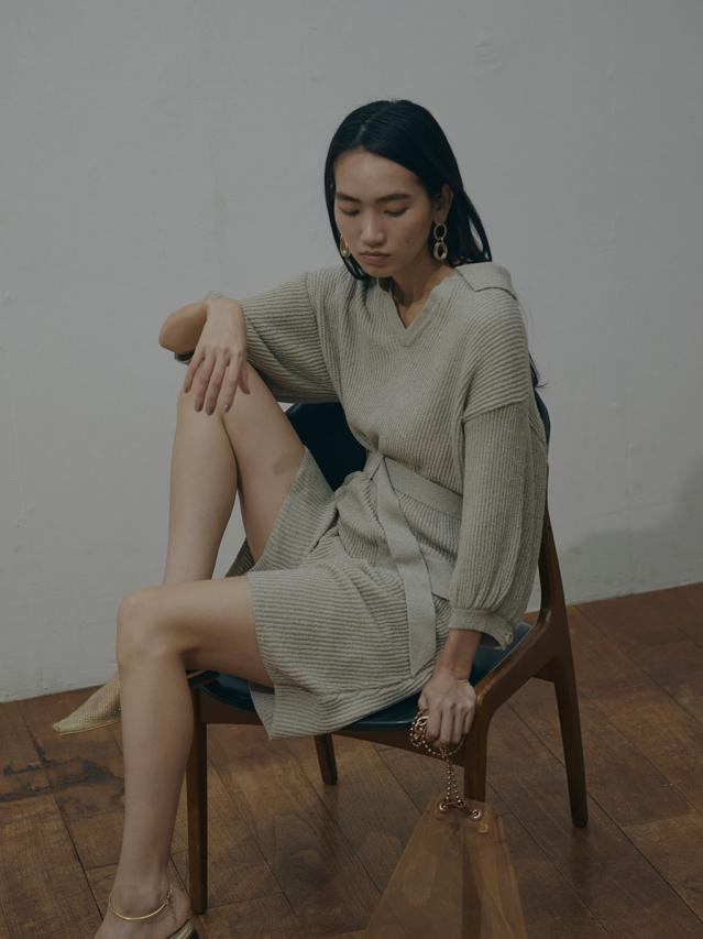 MEDI OPEN COLLAR KNIT ALL IN ONE