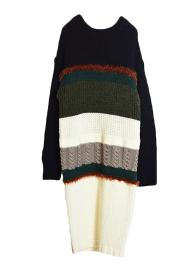 VARIOUS COLOR KNIT DRESS