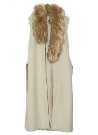ASYMMETRY FUR VEST