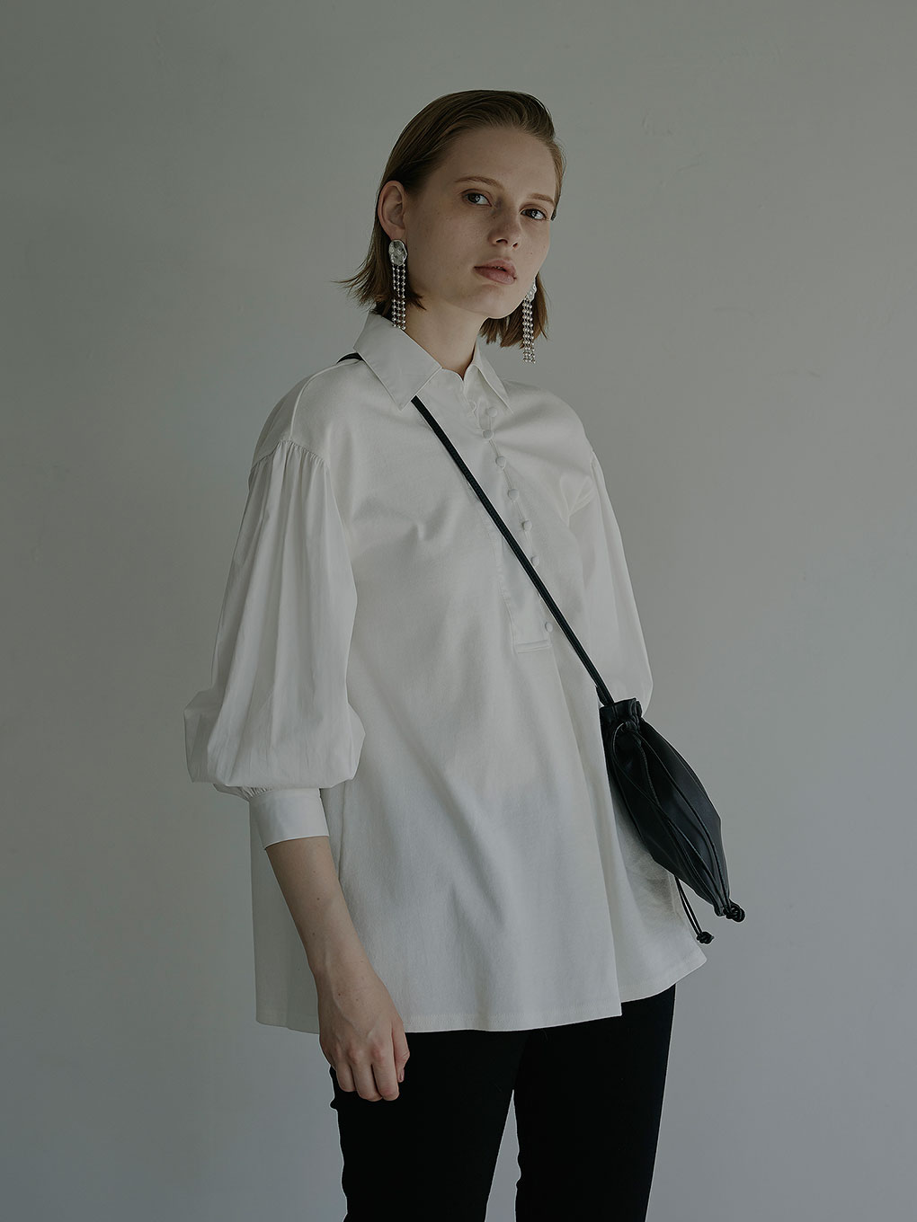PUFF SLEEVE COMBINATION TOP
