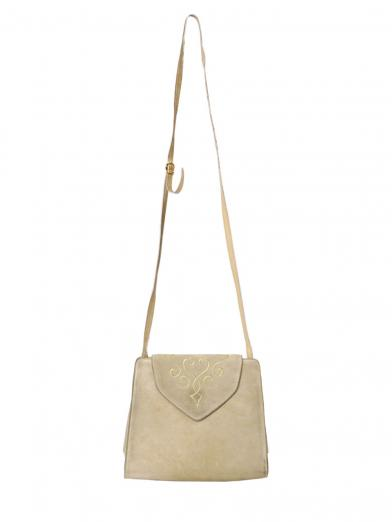 FERRAGAMO SUEDE SHOULDER BAG